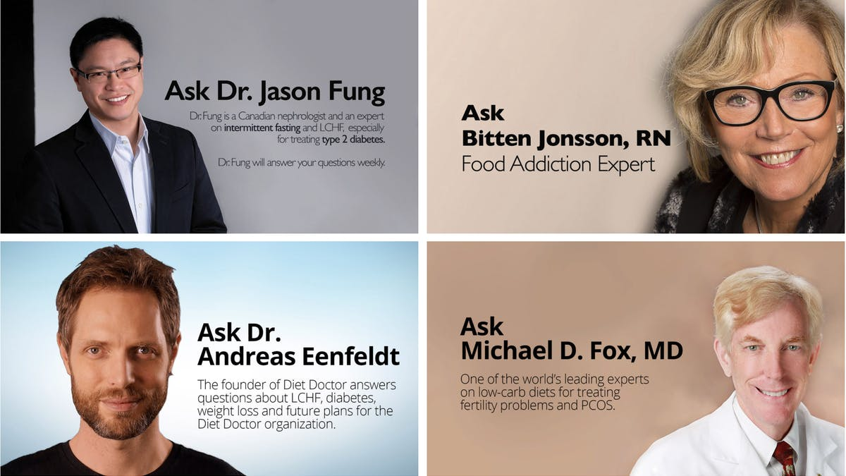 Fråga experterna på Diet Doctor!