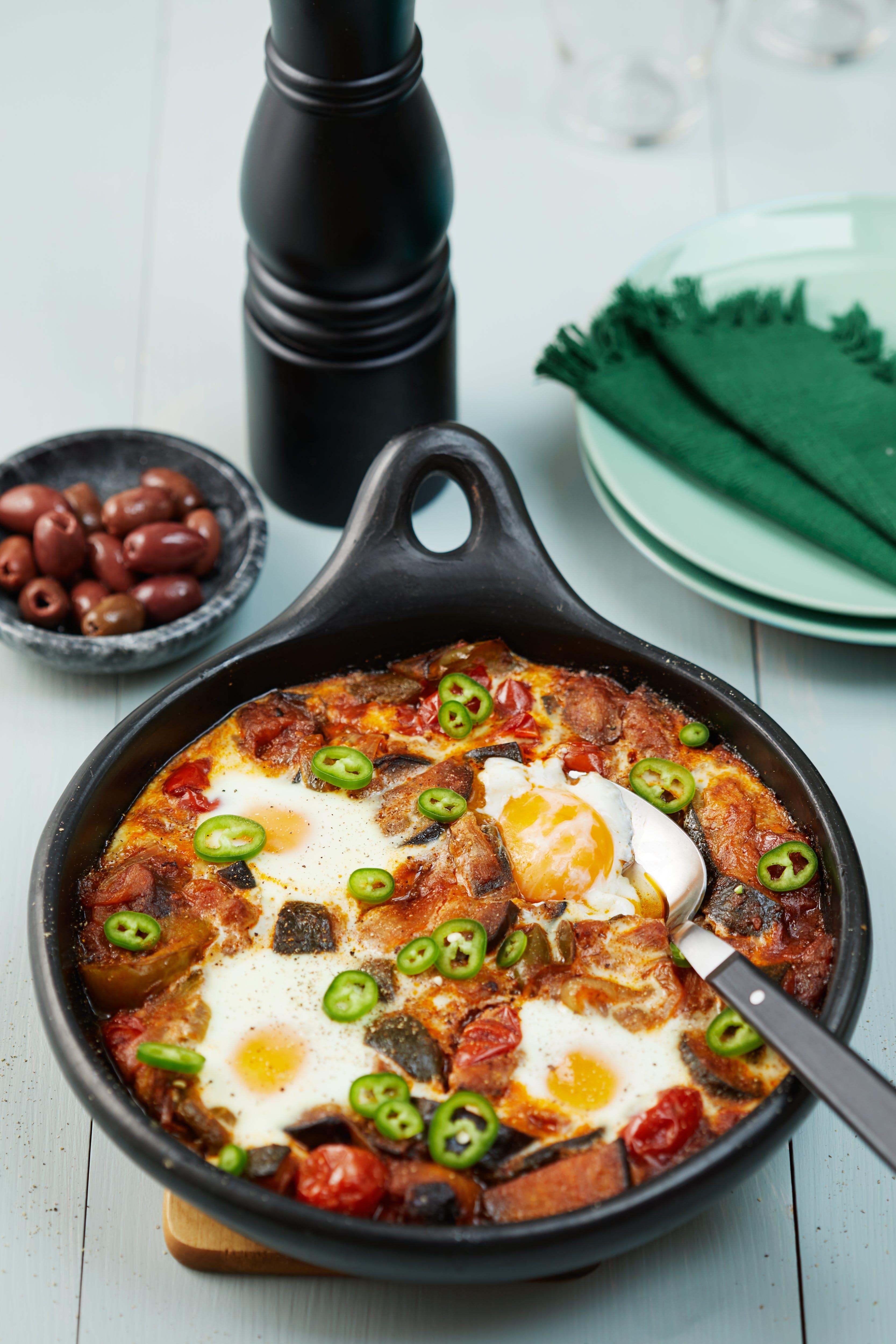 Ratatouille med ägg