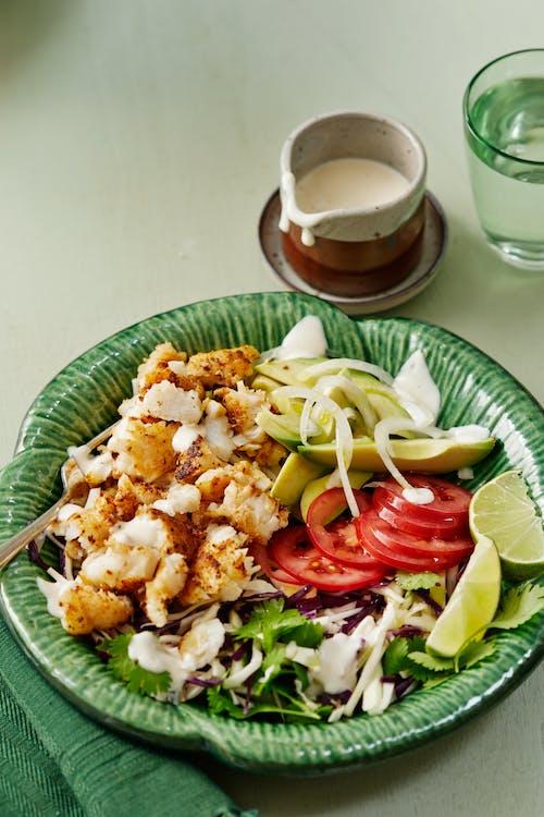 Taco bowl med fisk