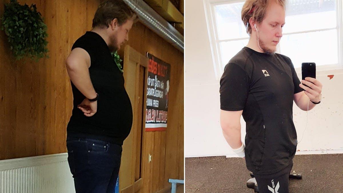 Stefan gick ner 42 kilo på ett år