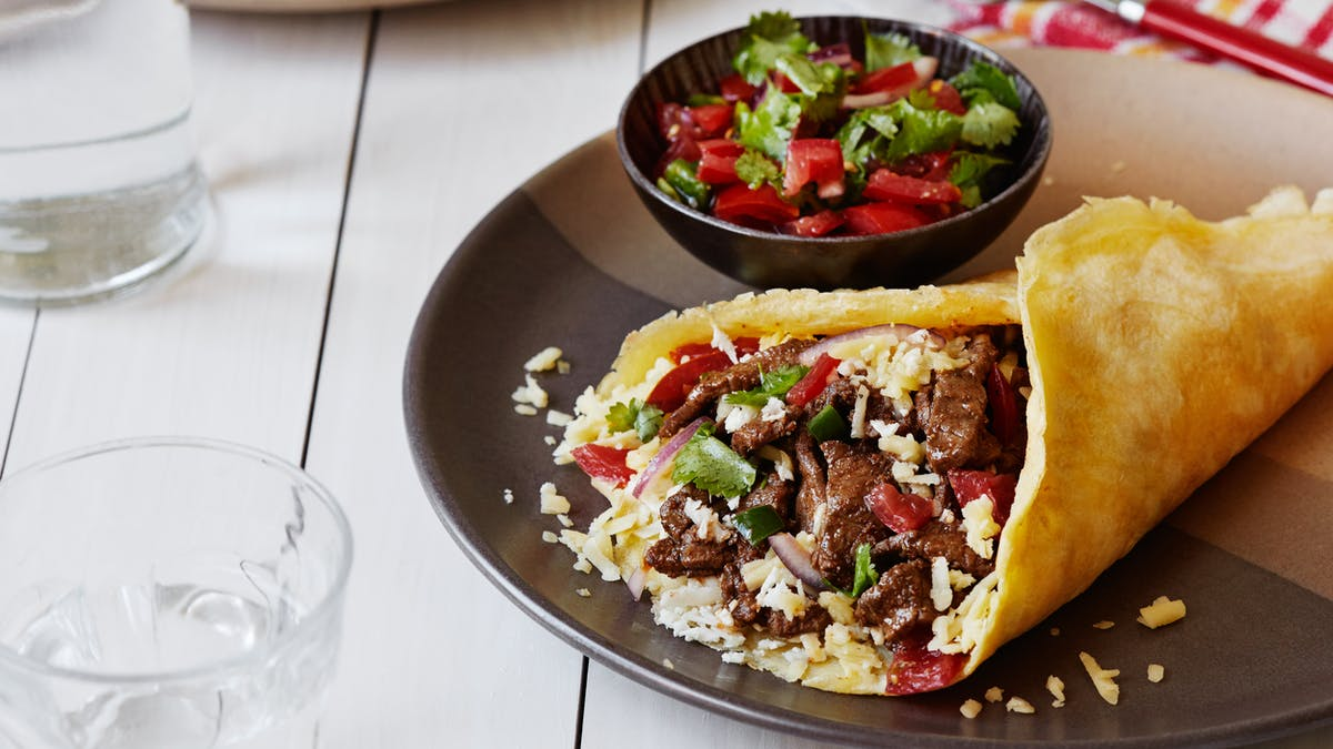 Burrito med biff och Pico de Gallo