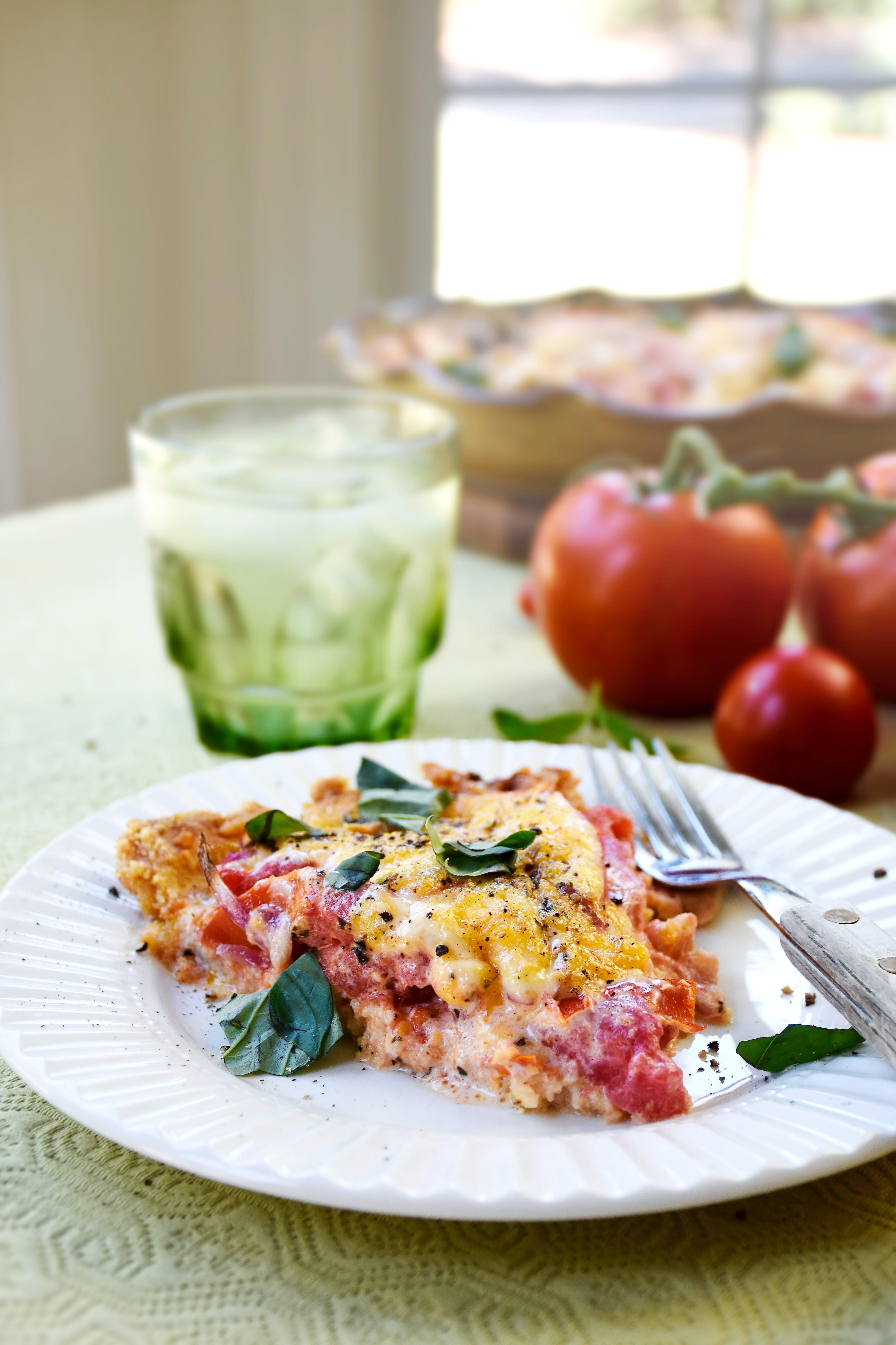 Kristies tomatpaj med parmesan