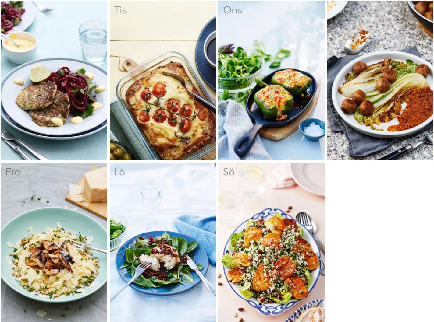 Ny veckomeny: Vällagat, varierat och vegetariskt