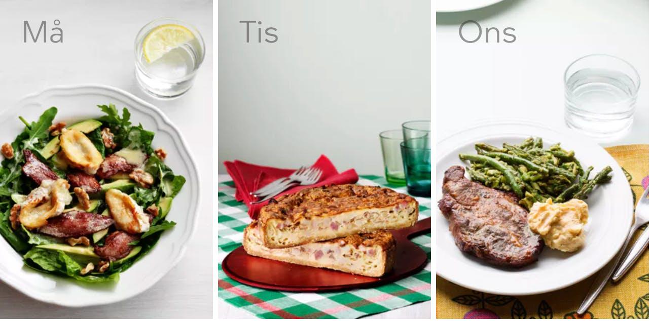 Ny veckomeny: Äta och laga mat utomhus