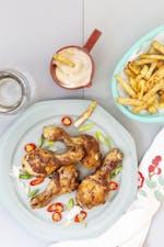 Kycklingben med LCHF-pommes