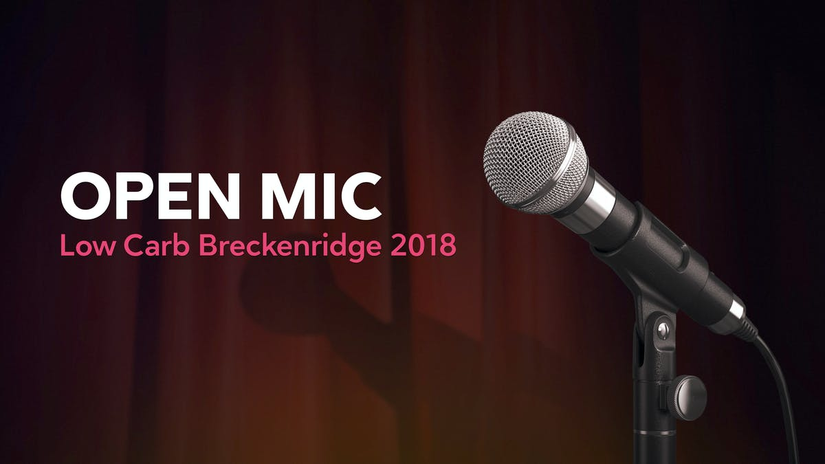 """Open mic"" från Low Carb Breckenridge"