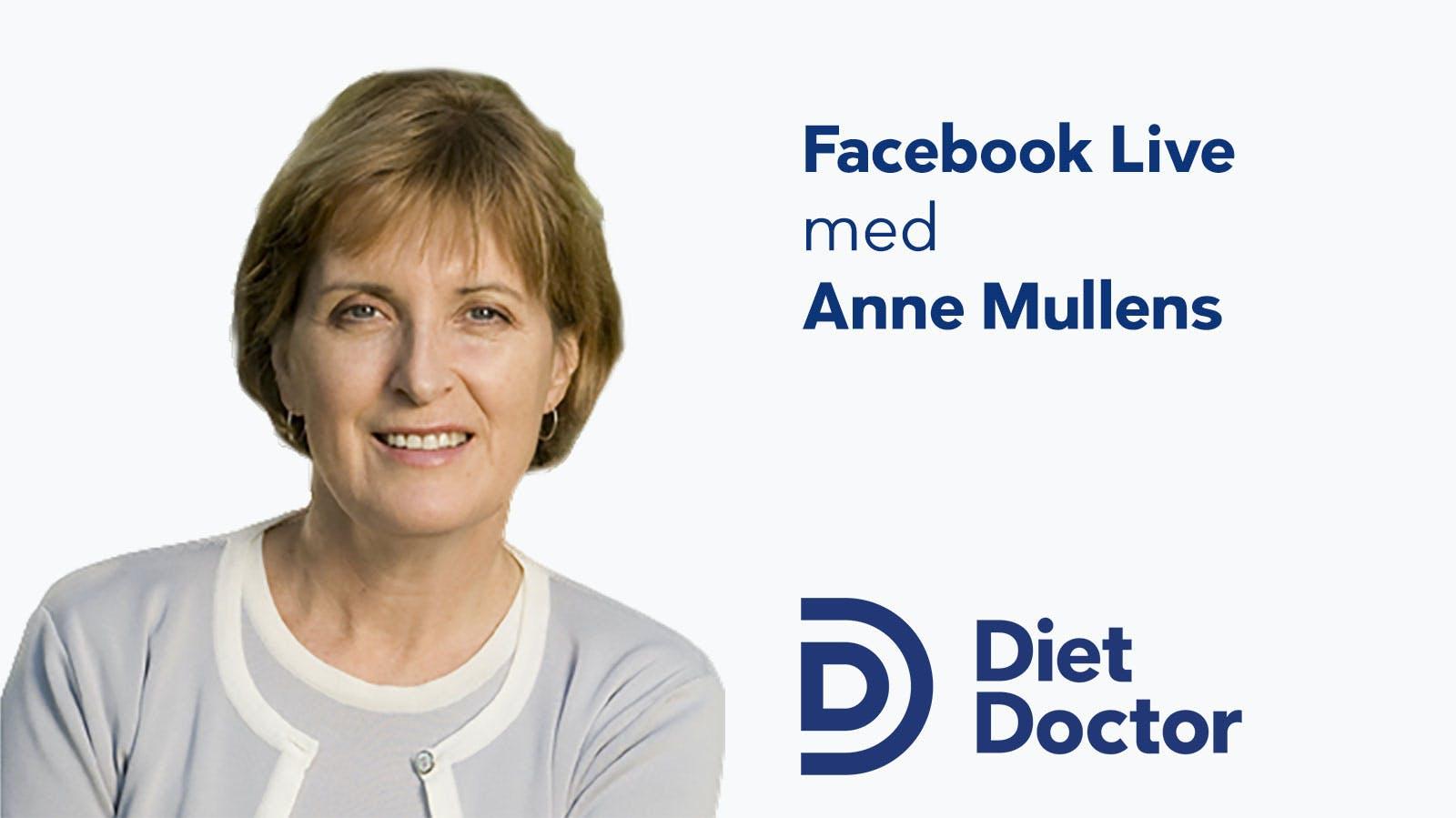 Anne Mullens i livesändning på Facebook