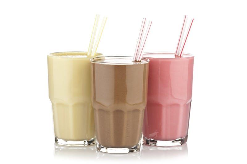 Low-calorie shake trio
