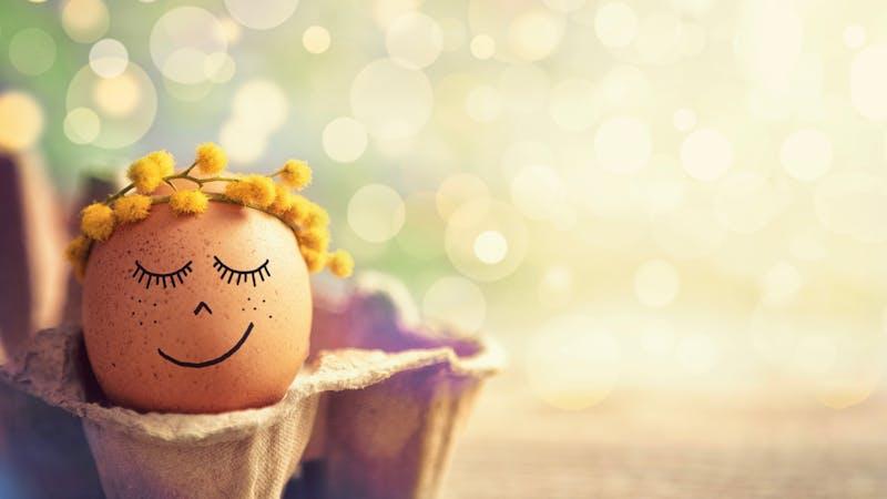 Easter eggs in springtime
