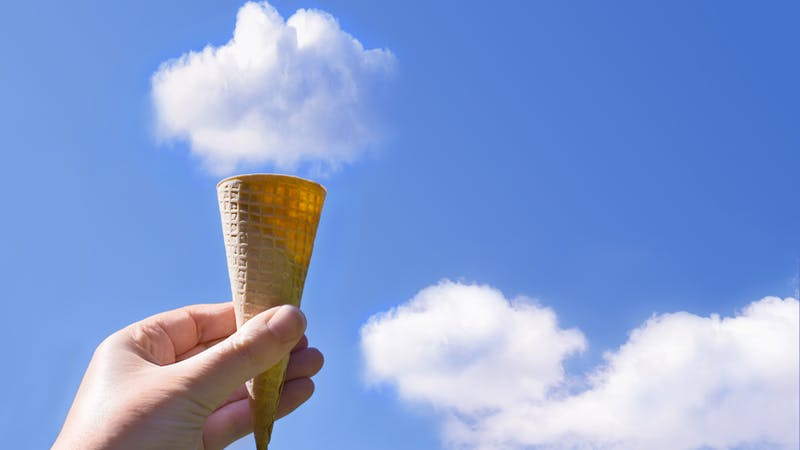 Cloud Ice Cream Cone