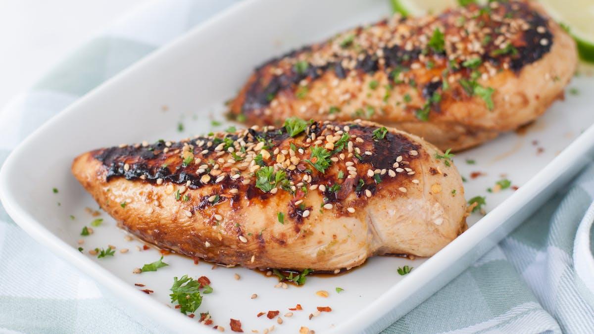 Kyckling med smak av ingefära och lime