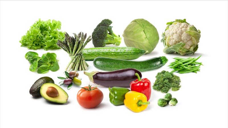 Vegetables above ground