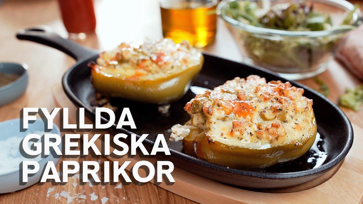 Matlagningsvideo: Fyllda grekiska paprikor