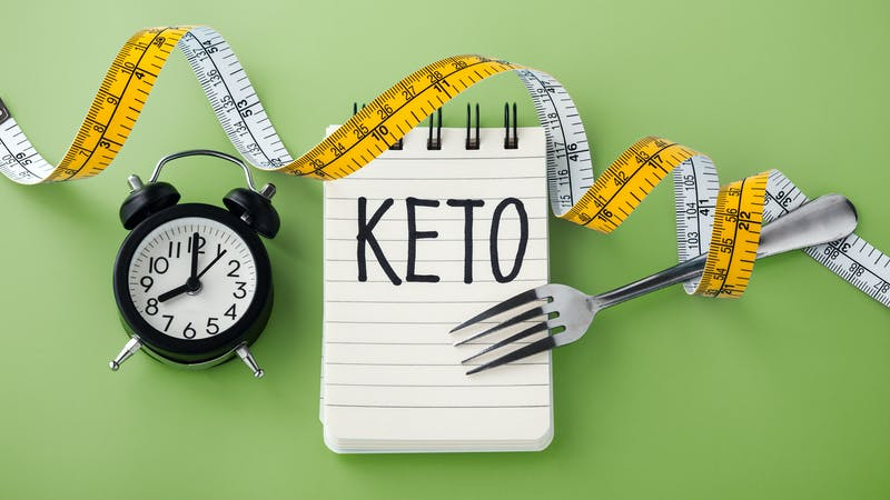 Intermittent fasting on keto concept