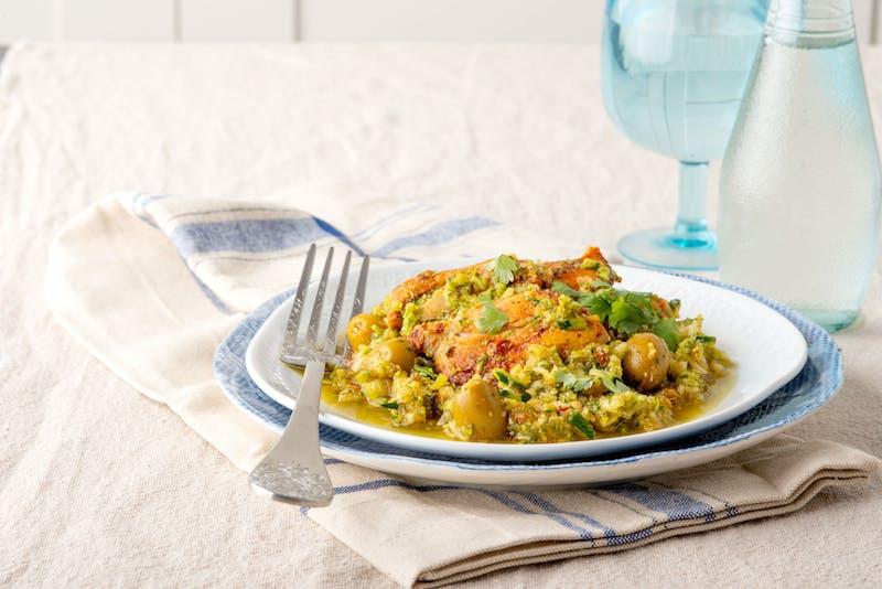 LCHF-kycklinggryta med zucchini-ris