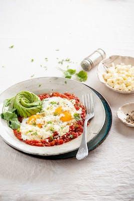 Claras goda huevos rancheros<br />(Frukost)