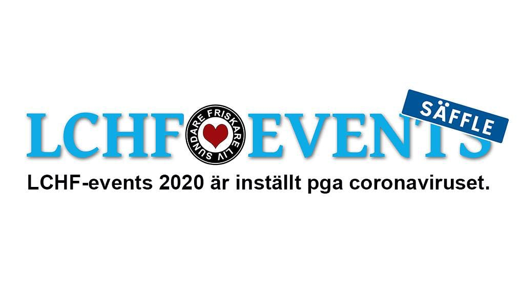 LCHF-eventet i Säffle är inställt
