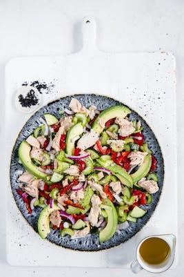 Tonfisksallad med avokado<br />(Middag)