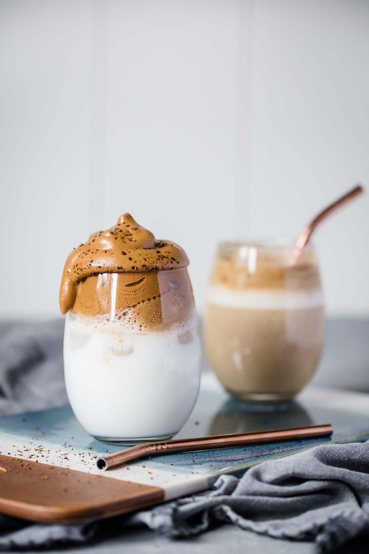 Dalgona-kaffe på LCHF-vis