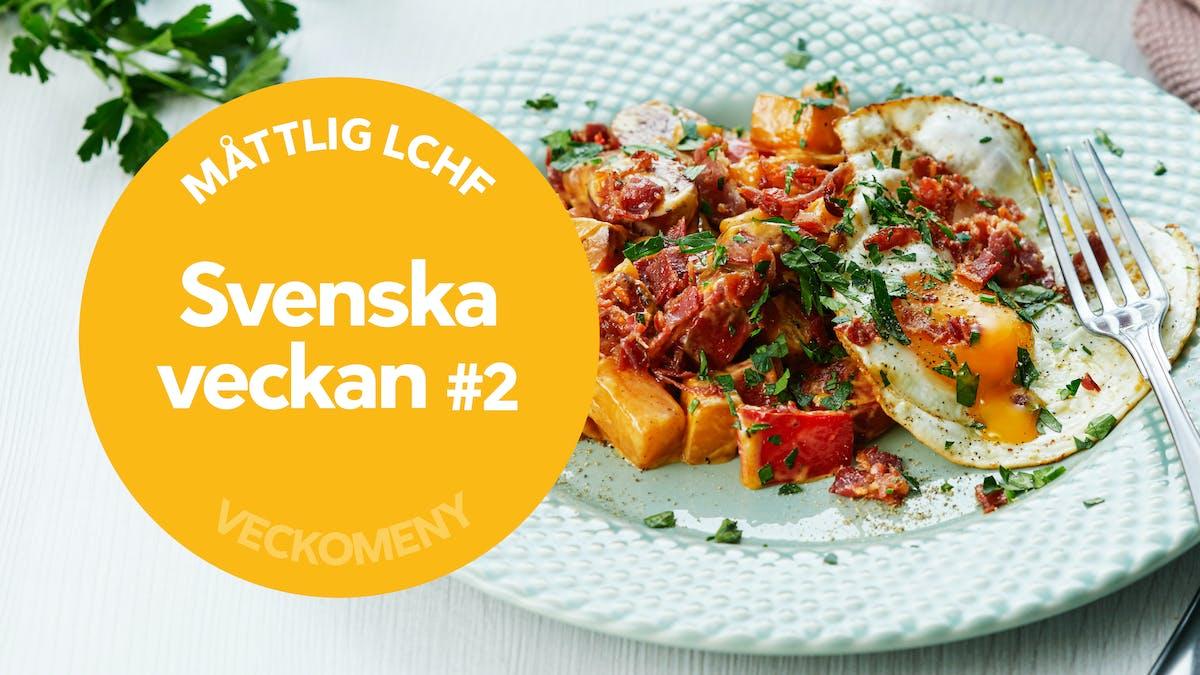 Ny måttlig veckomeny: Svenska veckan #2