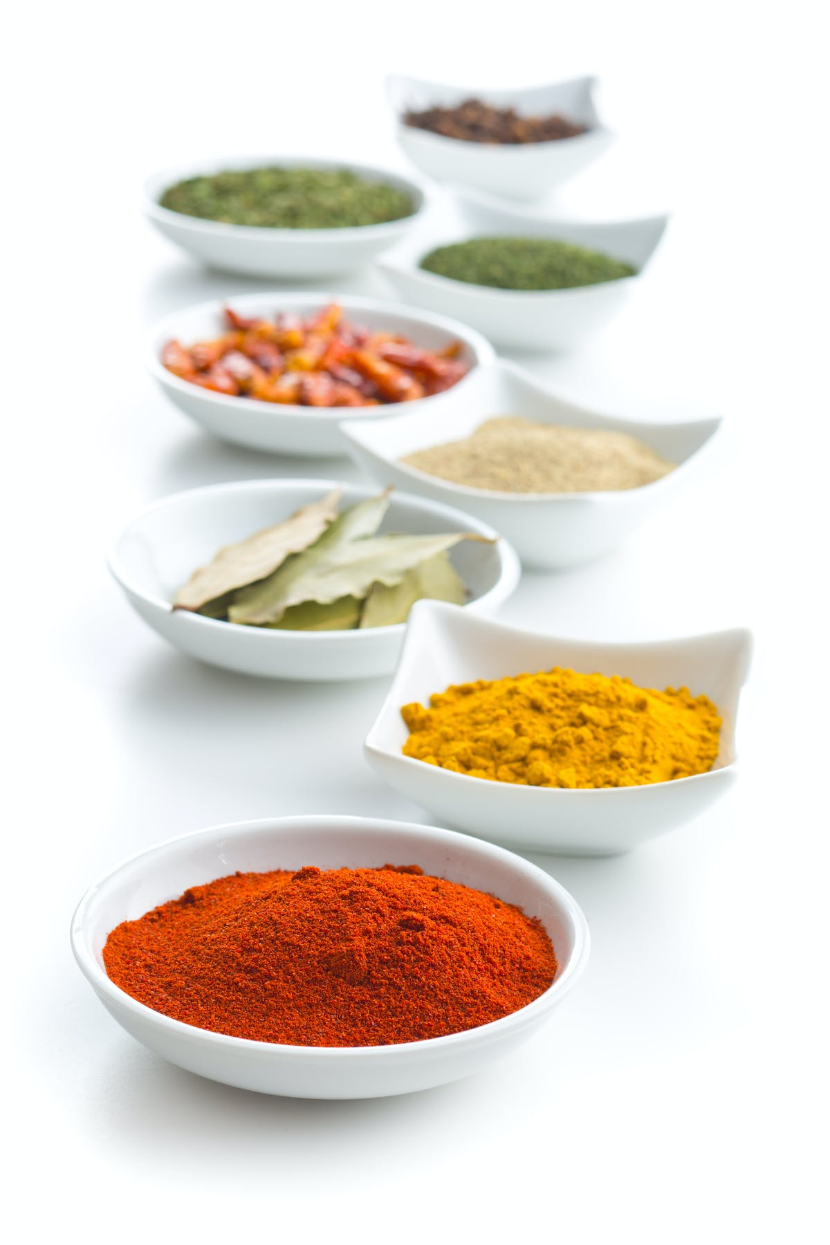 Various dried herbs and spices