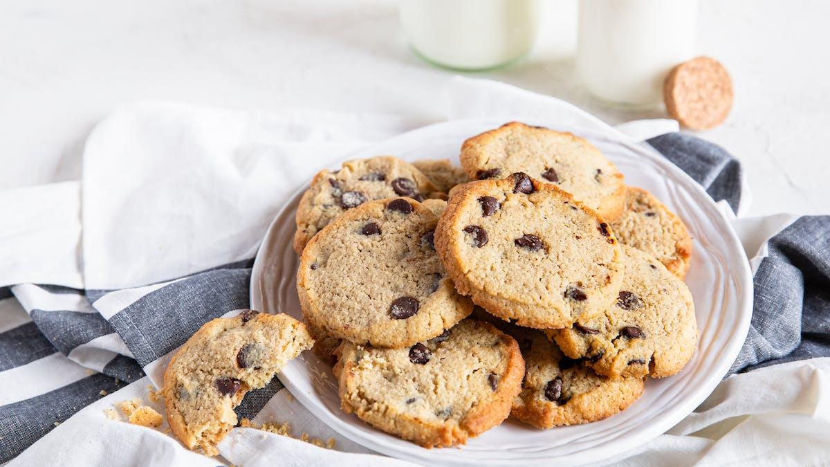 Sockerfria chocolate chip cookies