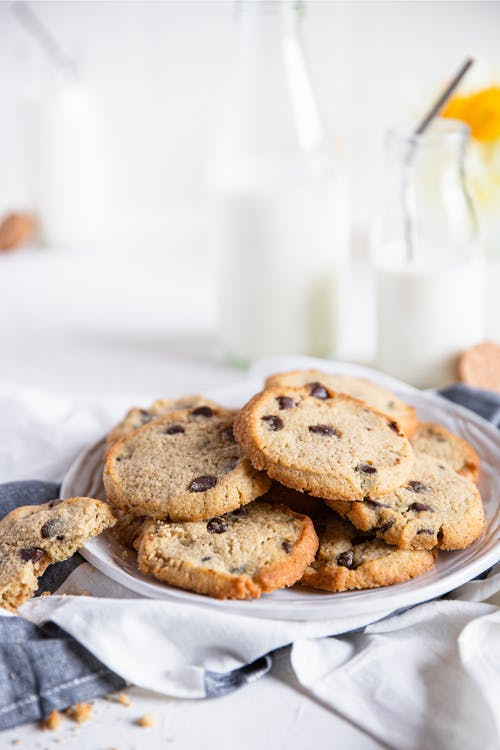 Sockerfria chocolate chip cookies
