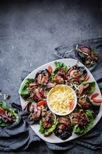 Salladswraps med köttfärs och bacon