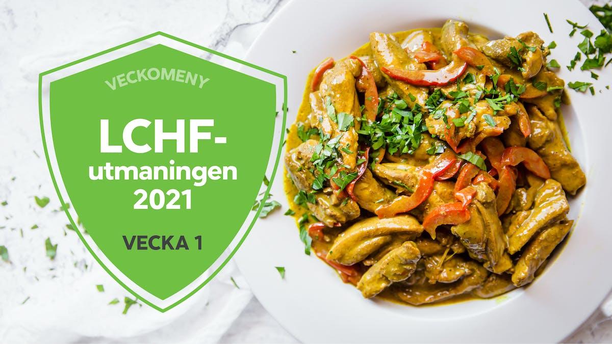 LCHF-utmaningen 2021 – vecka 1