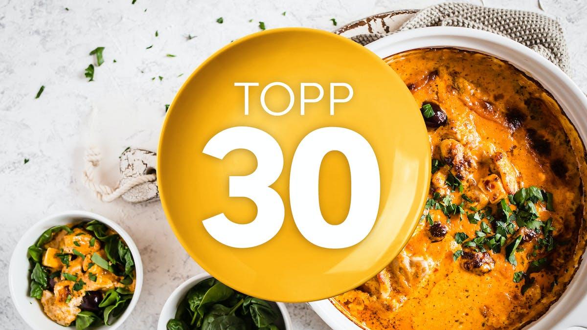 Topp 30 LCHF-recept