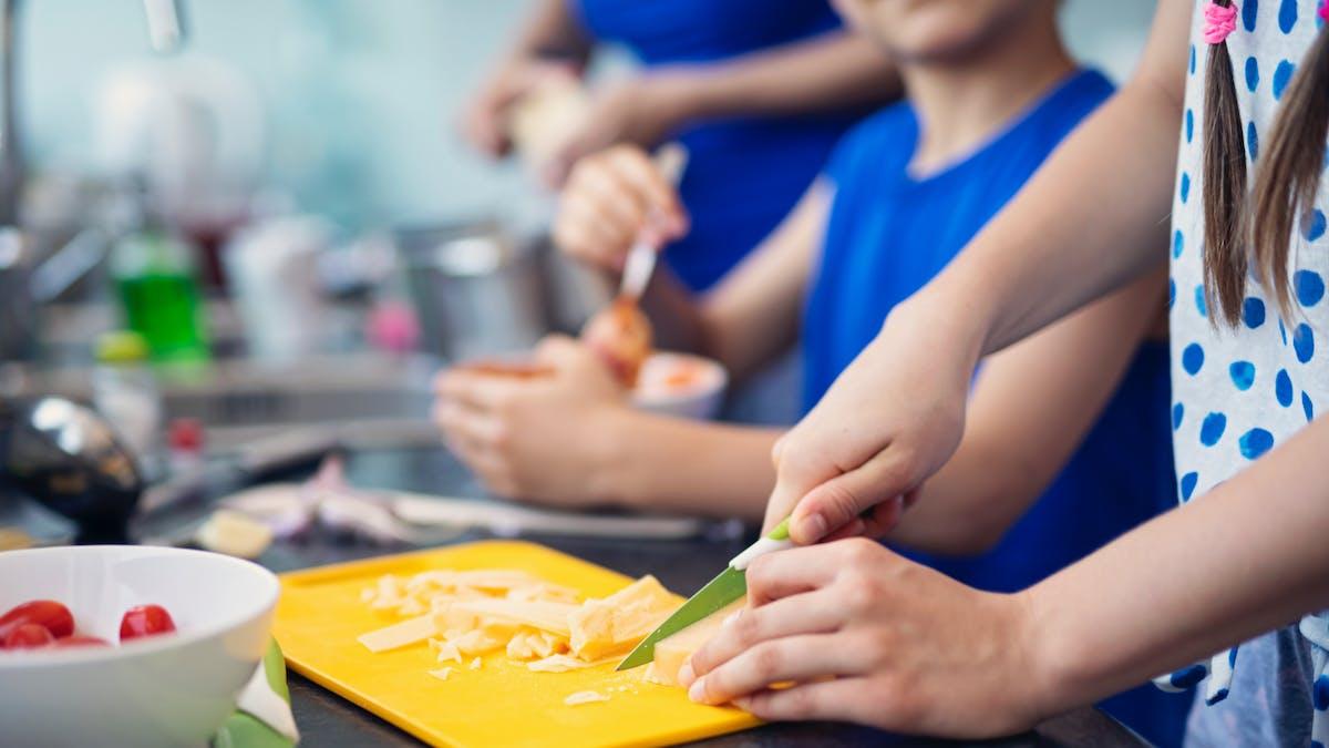Familjeprat om matens betydelse för kropp och knopp