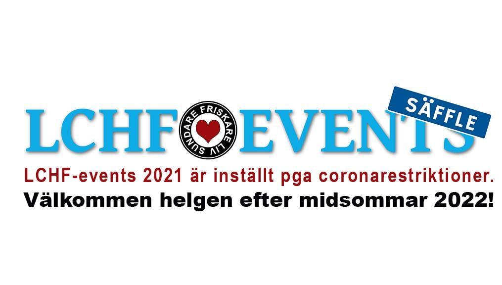 LCHF-eventet i Säffle är inställt även detta år