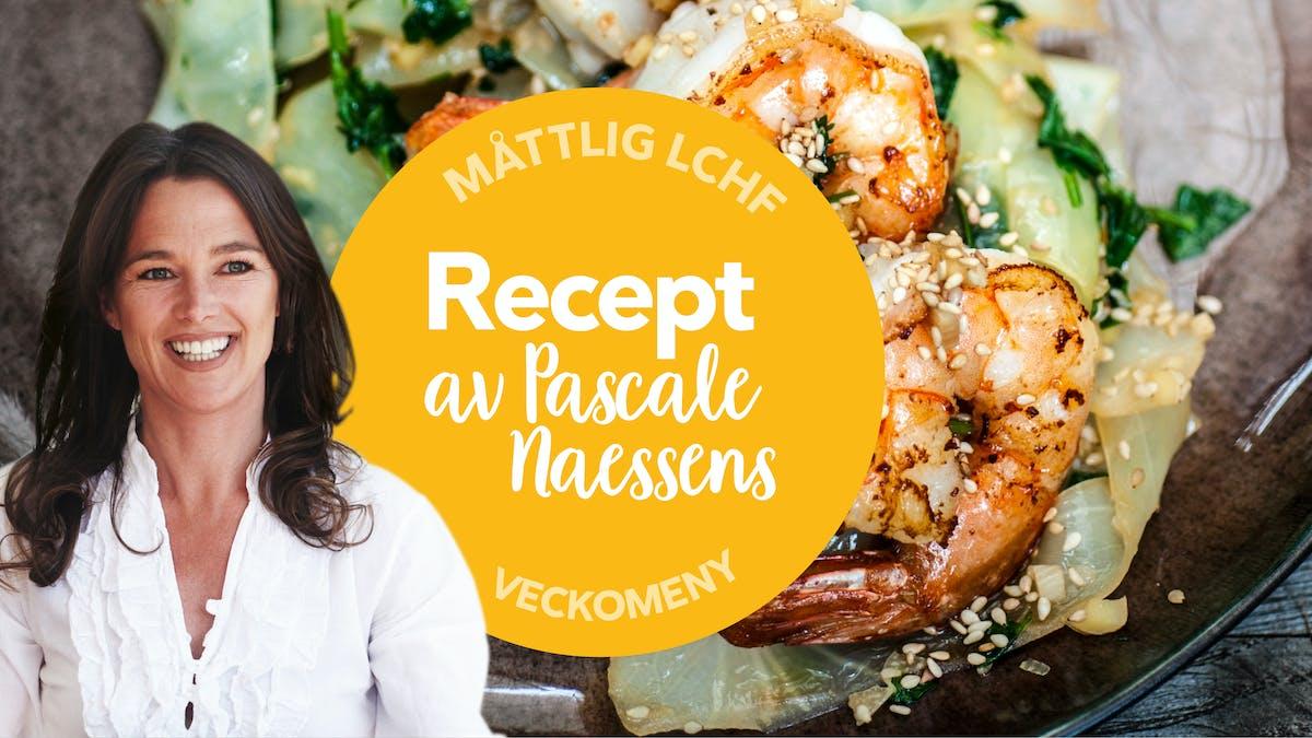 Ny måttlig veckomeny: Recept av Pascale Naessens