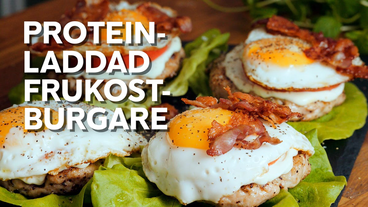 Video: Proteinladdad frukostburgare