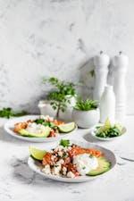 Stekt torsk med salsa och fetaost