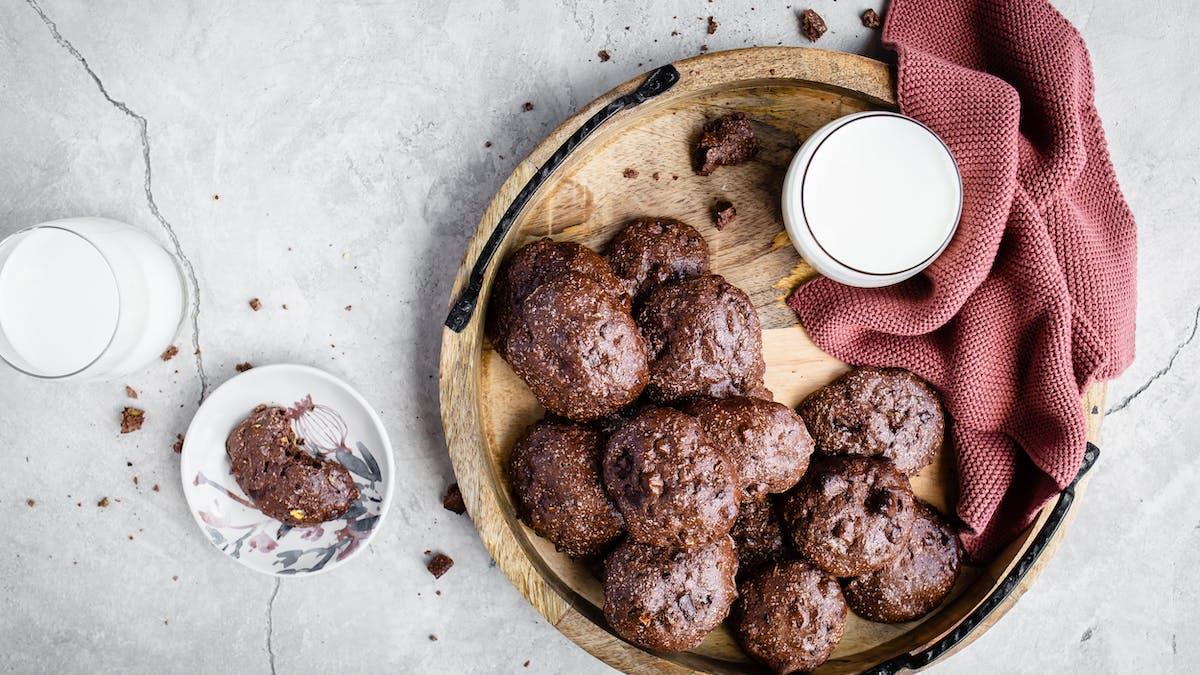 Proteinrika LCHF-kakor med pistasch och choklad