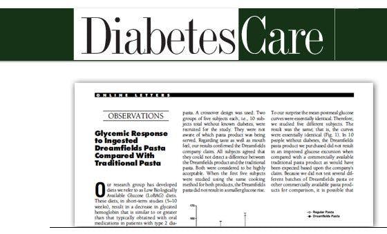 Dreamfields test in Diabetes Care