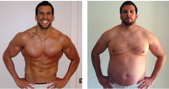 Personal trainer gains 76 pounds
