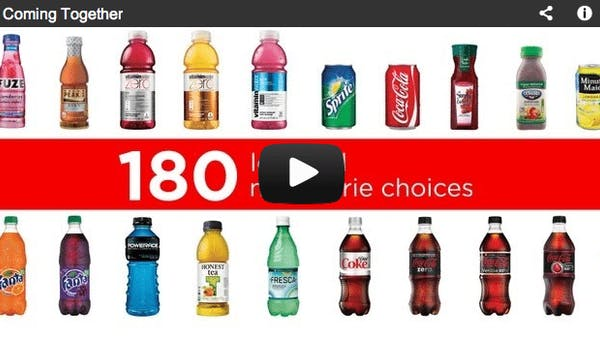 Is Coca Cola the solution to the obesity epidemic?