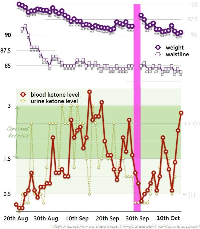 Final report: two months of a strict keto diet and ketone monitoring