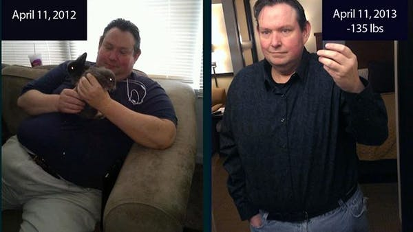 Losing 135 pounds in one year with LCHF