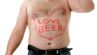 Are beer bellies a myth?