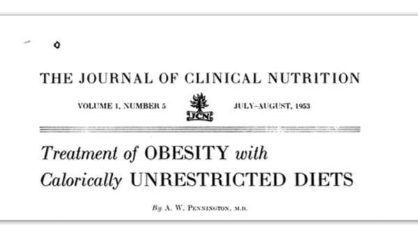 A low-carb, high-fat diet from 1953
