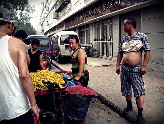 A thin man in China