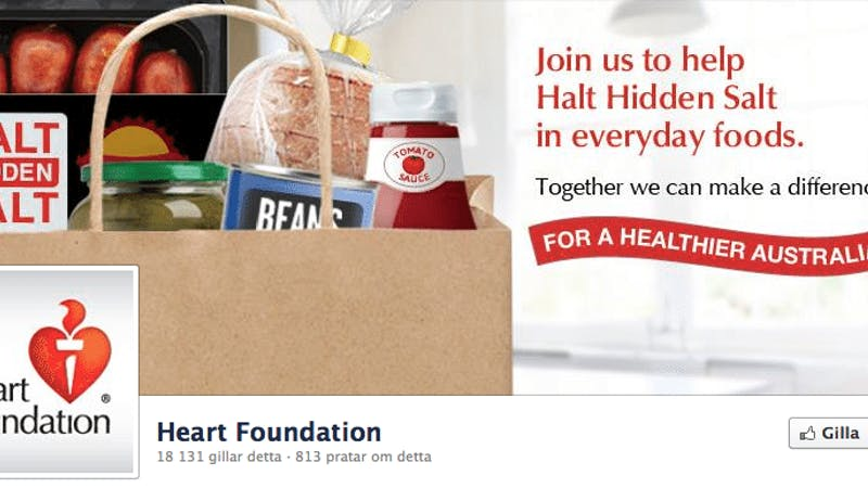 Heart Foundation Facebook page in crisis mode after TV show