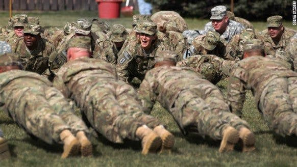Soldiers need liposuction to pass fat test