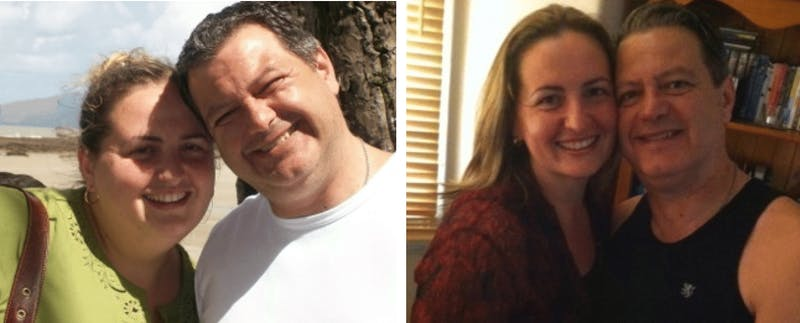 2008 - 2013.... me and my husband, someone who has been my biggest supporter and embraced LCHF with me!
