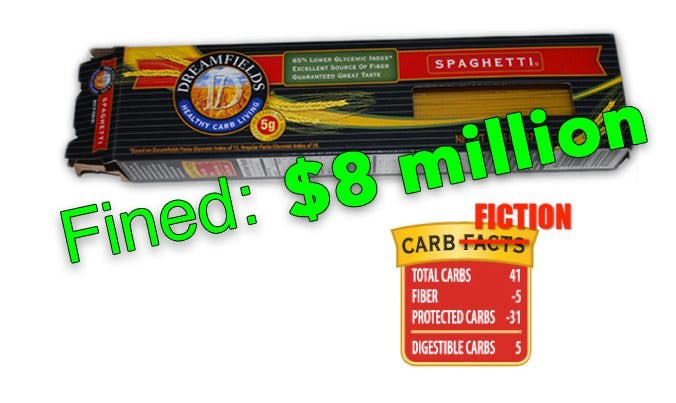 The Dreamfields Pasta Fraud Finally Results in an 8 Million Dollar Fine!