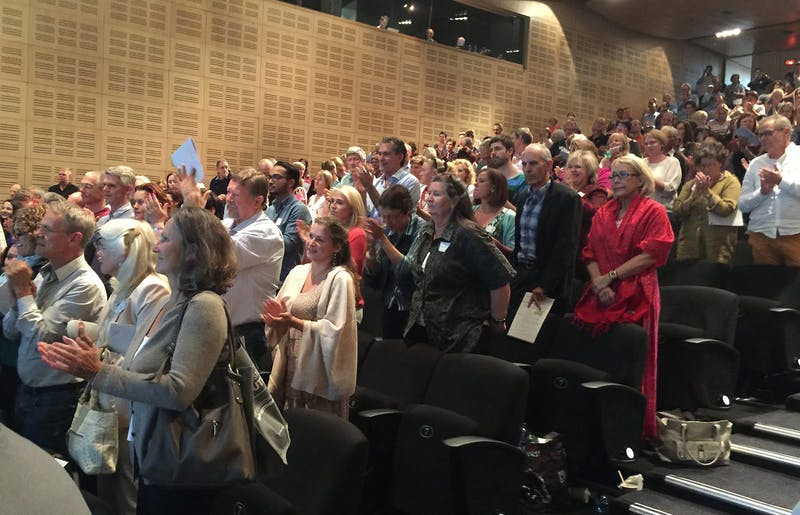 Standing ovations from 600+ participants at the end of the conference