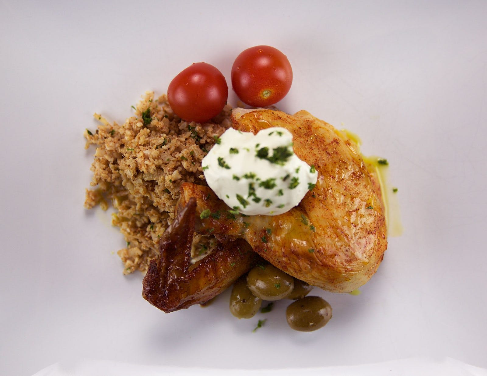 "Chicken with Oriental ""Couscous"""